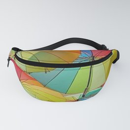 Colored Umbrellas Fanny Pack