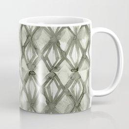 Braided Diamond Simply Green Tea on Lunar Gray Coffee Mug
