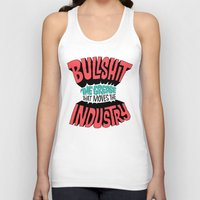 grease Tank Tops featuring The Grease That Moves The Industry by Chris Piascik