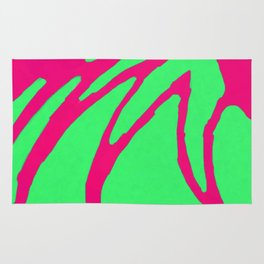 Green Pink Pattern Rug