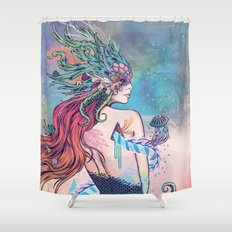 The Last Mermaid Shower Curtain