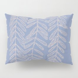 You Can't Kill Me Plants Blue and Cream Pillow Sham