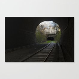 Ce tunnel est fermé // This Tunnel is Closed Canvas Print