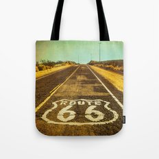 Route 66 Road Marker Tote Bag