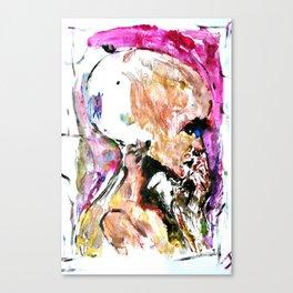Abstract 96 - Alien Head Canvas Print