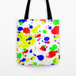 Colorful Paint Splatter. Tote Bag