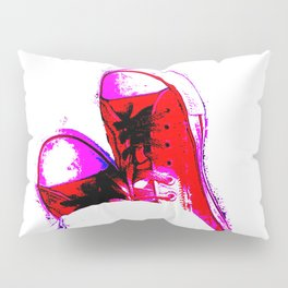 Red Trainers Pillow Sham
