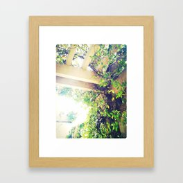 Breaking Thru Green Framed Art Print