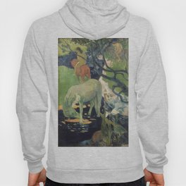 The White Horse by Paul Gauguin Hoody