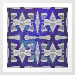 Breeze Block blue Art Print
