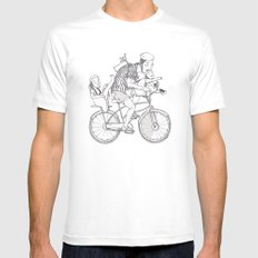 bicycle MEDIUM Mens Fitted Tee White