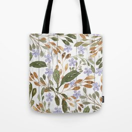 Rustic white wood green lavender watercolor floral Tote Bag