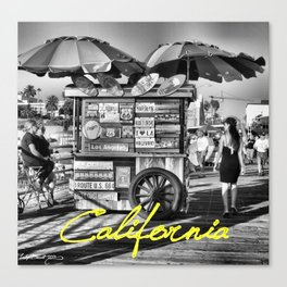 California (with text) Canvas Print