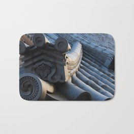 Japanese traditional temple roof Bath Mat