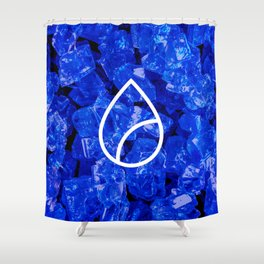 Lapis Lazuli Candy Gem Shower Curtain