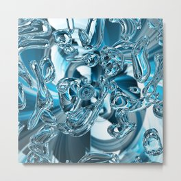 Blue Line - Objekts TWO - Wild Water Metal Print