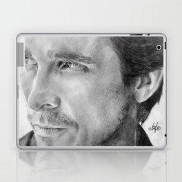 Christian Bale Traditional Portrait Print Laptop & iPad Skin