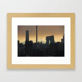 Western Sky, Beijing Framed Art Print