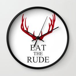 Hannibal Eat the rude Wall Clock