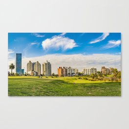 Montevideo Cityscape at Summer Time Canvas Print