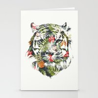 tiger Stationery Cards featuring Tropical tiger by Robert Farkas