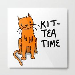 Kit-Tea Time | Veronica Nagorny  Metal Print