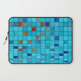 Blue And Red Geometrical Art - Block Party 1 - Sharon Cummings Laptop Sleeve