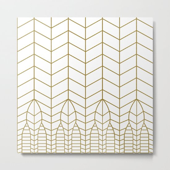 ART DECO IN WHITE Metal Print