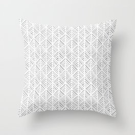 Abstract Leaf Pattern in Gray Throw Pillow