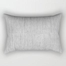 Smoke of Celebration Gray Basket Weave Rectangular Pillow