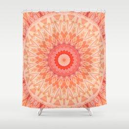 Mandala soft orange Shower Curtain