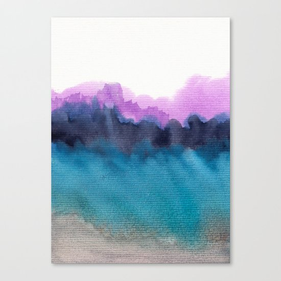 Watercolor abstract landscape 13 Canvas Print