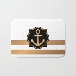 Golden Anchor Bath Mat