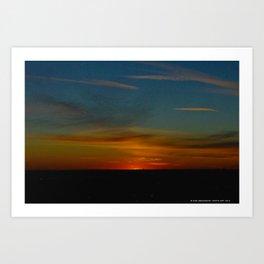 Prairie Sunset #1 (Chicago Sunrise/Sunset Collection) Art Print