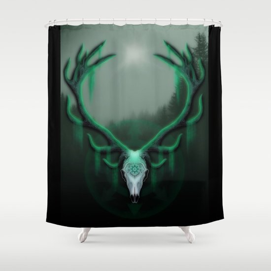 Wild Horns Shower Curtain