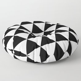 Black and white triangles Floor Pillow
