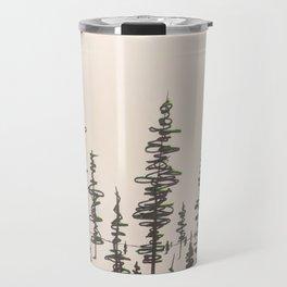 Winter Sun on Lodgepole Pines in Alberta Travel Mug