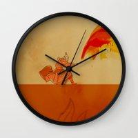 airbender Wall Clocks featuring Avatar Roku by daniel