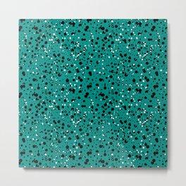 Speckled Emerald Metal Print