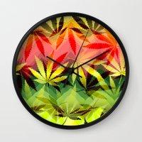 marijuana Wall Clocks featuring Marijuana by SpecialTees