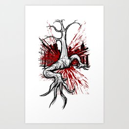 Attack of the Walking Tree Art Print