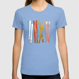 Colorful Ski Pattern T-shirt