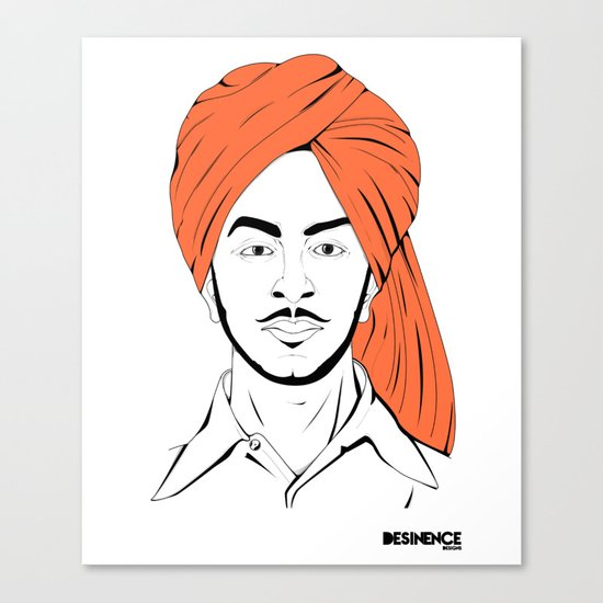 Bhagat Singh #IpledgeOrange Canvas Print