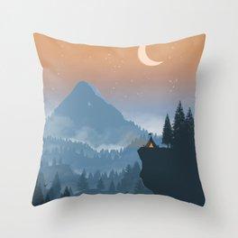 Camping spot Throw Pillow