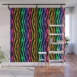 Rainbow Zebra Animal Print Wall Mural