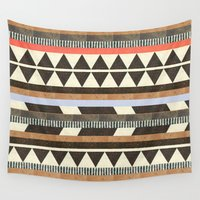 background Wall Tapestries featuring DG Aztec No.1 by Dawn Gardner