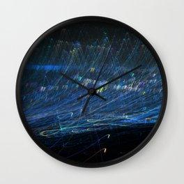 Blue light trail Wall Clock