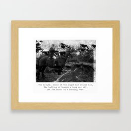 The Natural Sound of the Night Framed Art Print