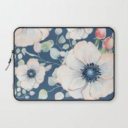 Summer Flowers Blue #society6 #buyart Laptop Sleeve