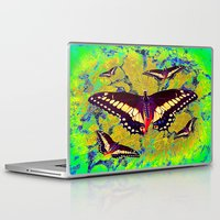 butterflies Laptop & iPad Skins featuring butterflies  by  Agostino Lo Coco